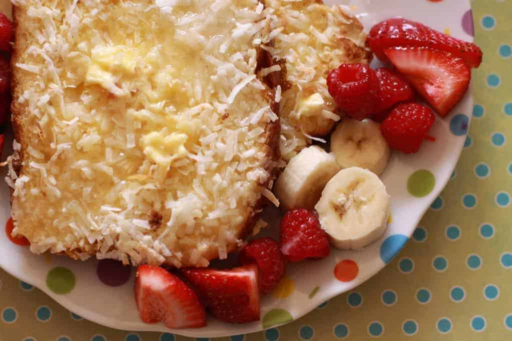 Coconut Crusted French Toast with Bananas and Berries - A ...