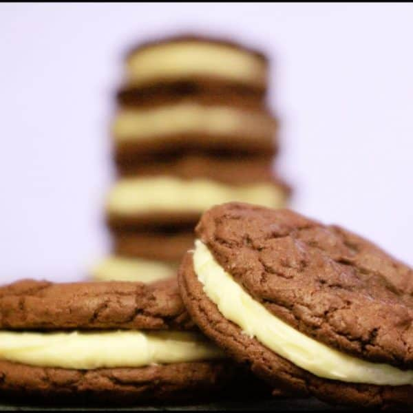Delicious Cake Mix Chocolate Cookie Sandwiches