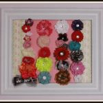 Framed Barrette and Hair bow Holder Craft