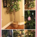Easy DIY Easter Egg Ornament Tree!
