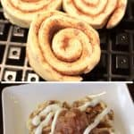 Apple Cinnamon Roll Waffles