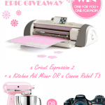 EPIC Mother's Day Giveaway!  $249 Cricut Expression 2 AND Kitchen Aid Mixer OR Canon Rebel T3- For YOU and MOM!