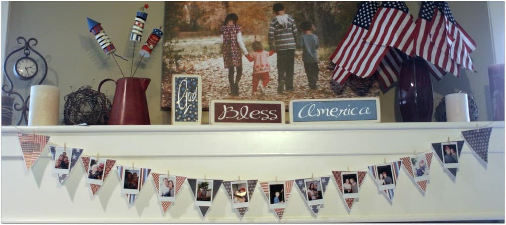 Holiday Photo Pennant Banner Craft