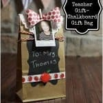 Back to School Teacher Gift- Chalkboard Gift Bag #michaelsbts