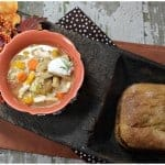 """Be Natural"" Virtual Cook-off – Homemade Chicken Barley Soup served with Whole Wheat Bread #beano"