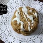Iced Oatmeal Peanut Butter Cookies
