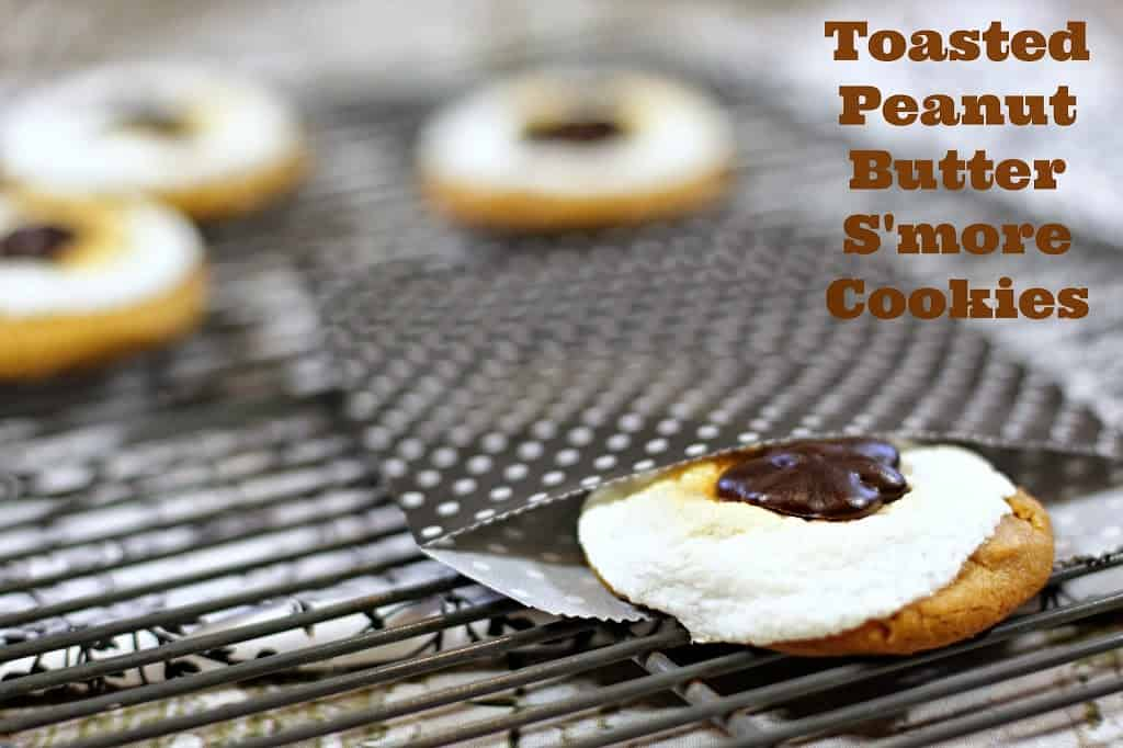 Toasted Peanut Butter S'more Cookies