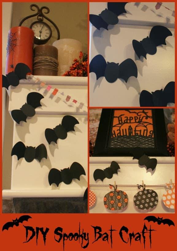 Spooky Paper Bats Crafts
