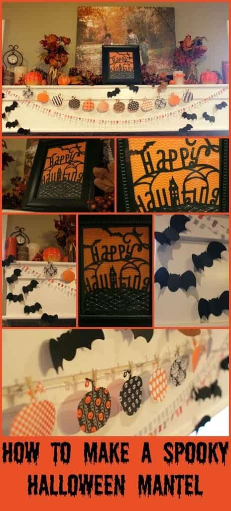 Halloween Spooky Mantel Crafts
