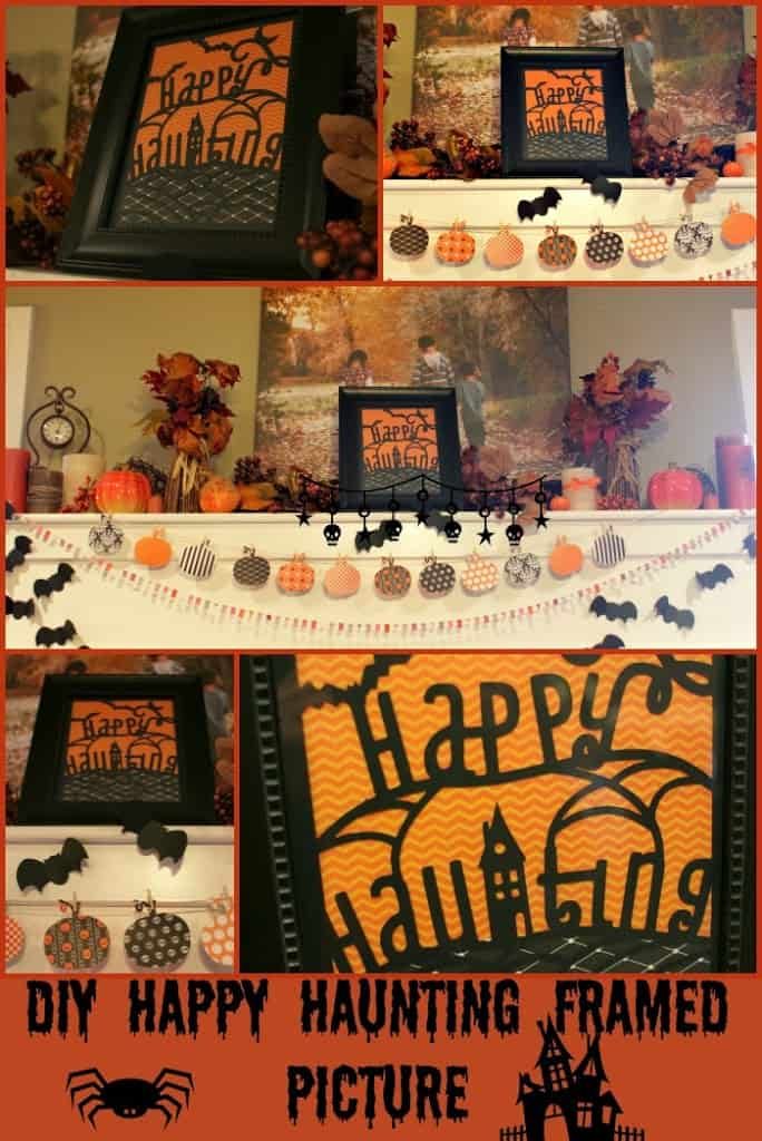DIY Happy Haunting Framed Picture