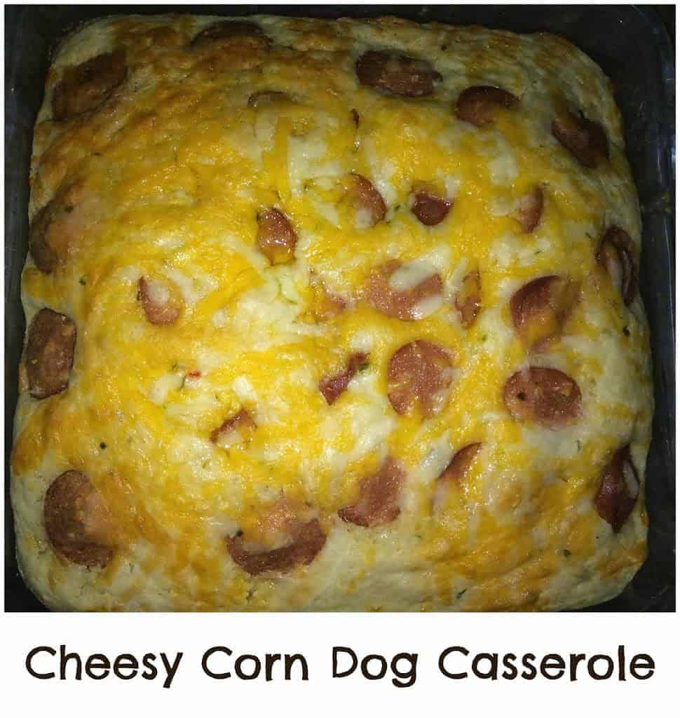 Cheesy Corn Dog Casserole - A Sparkle of Genius