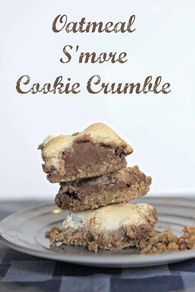 Oatmeal S'more Cookie Crumble Dessert