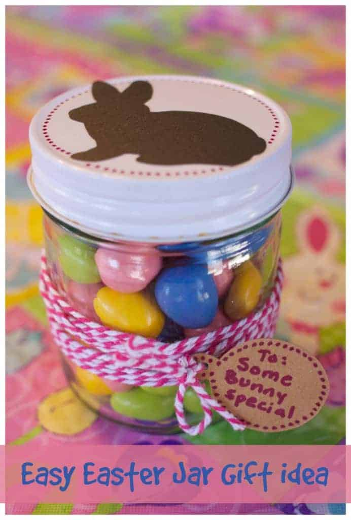 Some bunny special easter gift jar ideas easy easter jar gift idea with cricut machine negle Image collections