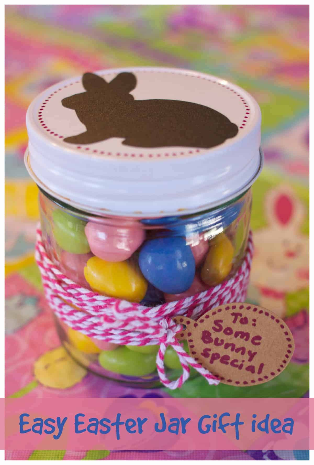 Easy Easter Jar Gift Idea with Cricut Machine