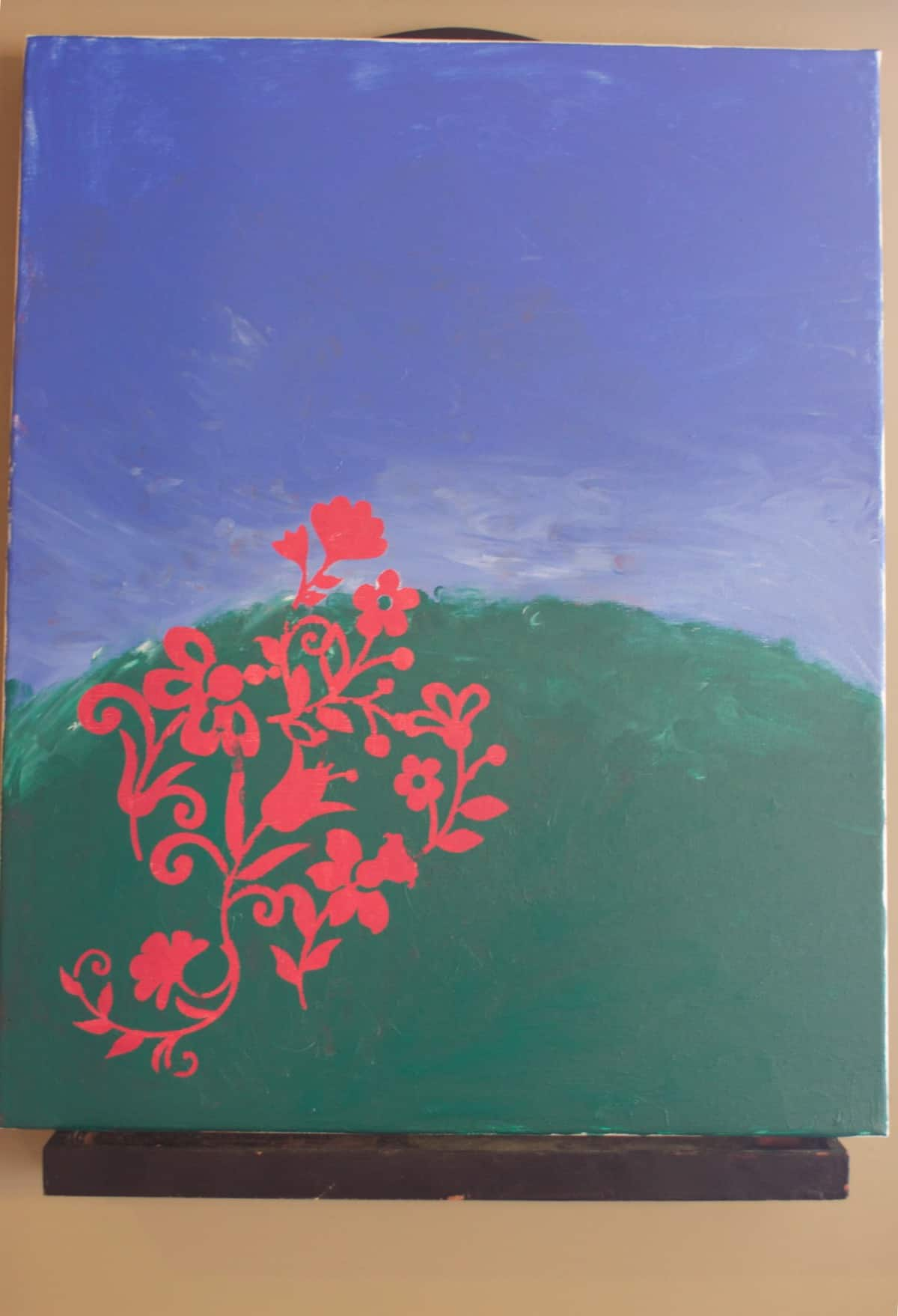 Diy canvas painting with cricut machine and vinyl for Paint to canvas