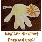 Lion Handprint Preschool Craft