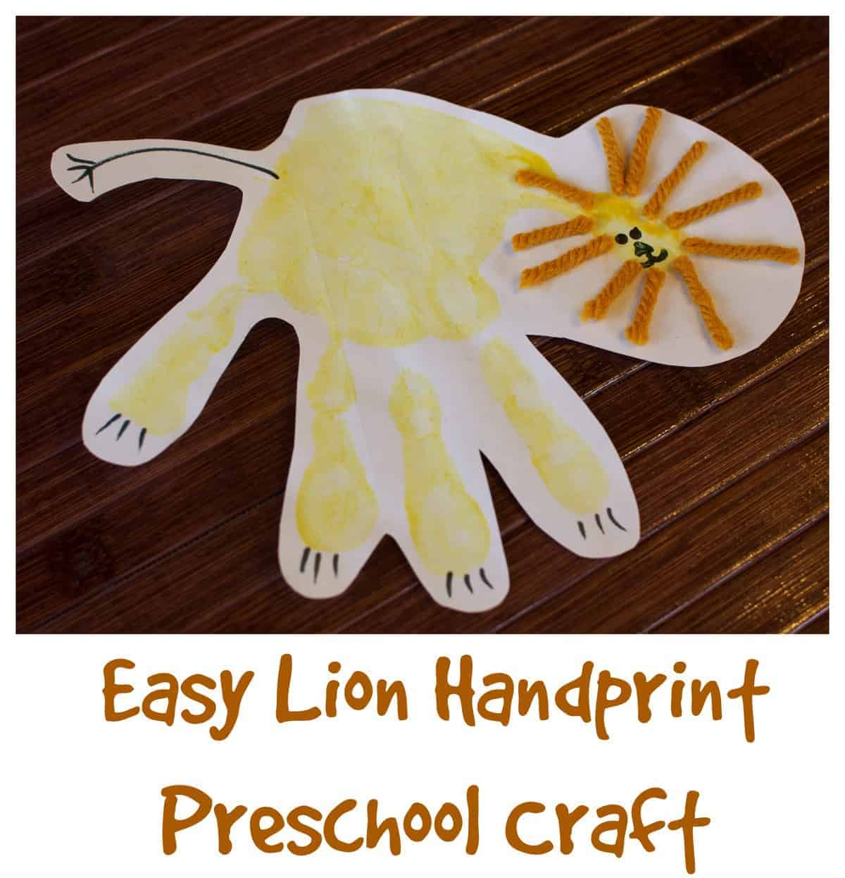 LionHandprintPreschoolCraft