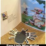 Easy Little Miss Muffet Hand Print Craft