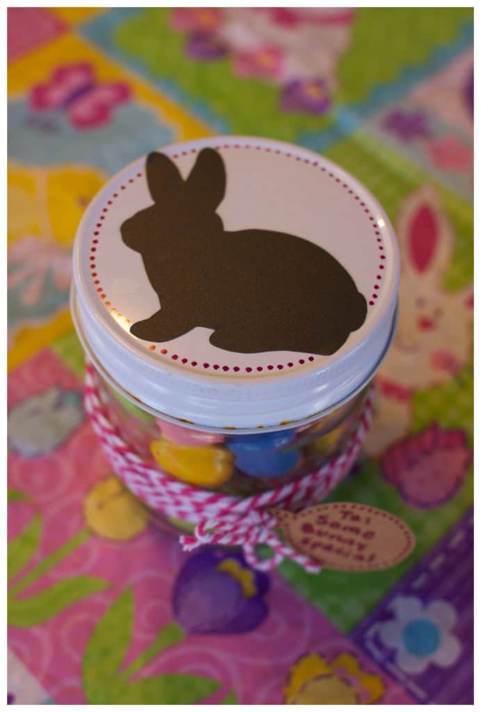 Some bunny special easter gift jar ideas eastergiftjarideas glittered easter candy jar negle Gallery