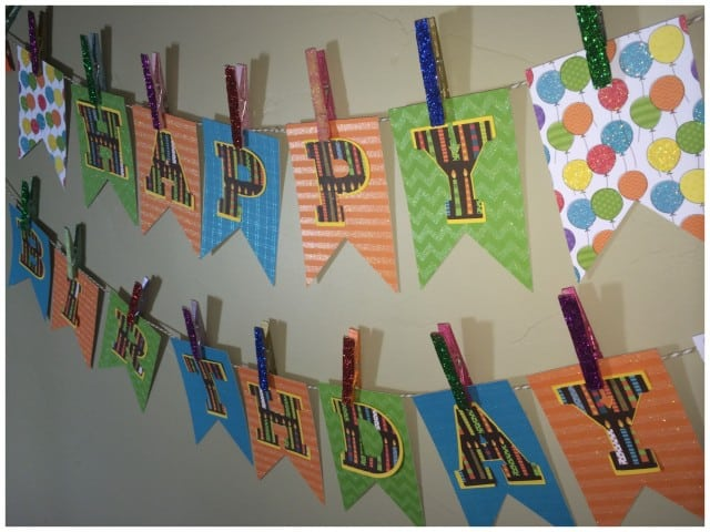 make your own birthday banner