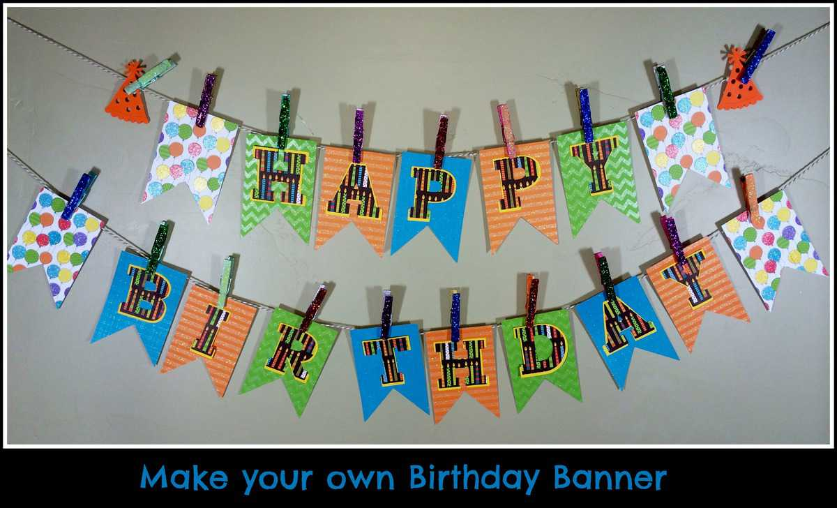 Make your own Birthday Pennant Banner - A Sparkle of Genius