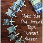 Make your own Washi Tape Pennant Banner