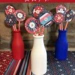DIY 4th of July Milk Bottle Decorations