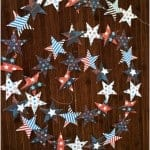 4th of July Sewn Star Garland