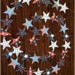 4th of July Sewn Star Garland