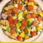BBQ Chicken Pita Pizza