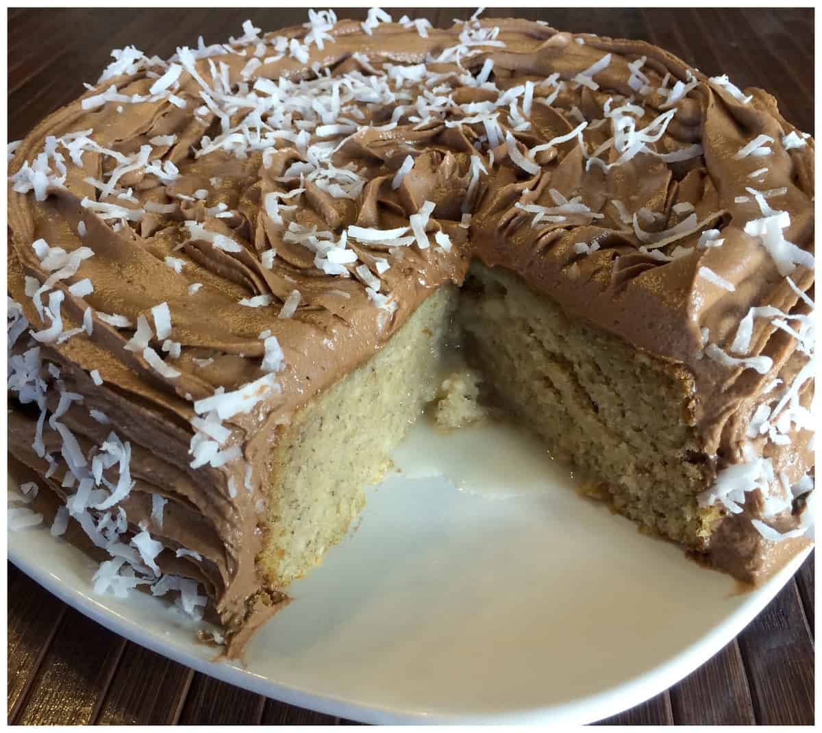 Banana Coconut Poke Cake with Nutella Frosting - A Sparkle ...