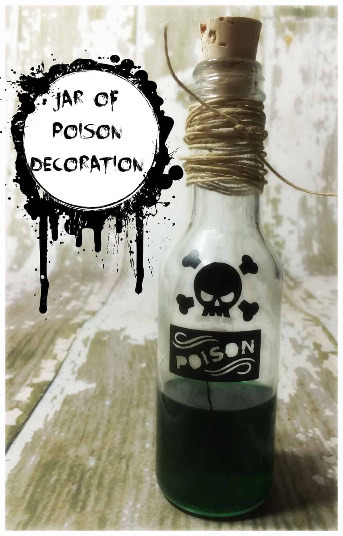 Jar Of Poison Halloween Decoration A Sparkle Of Genius