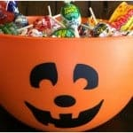 Make your own Pumpkin Trick or Treat Candy Bowl