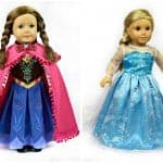 Anna and Elsa 18″ Doll Dresses on Very Jane
