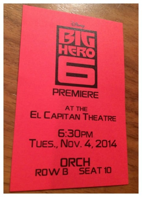 BigHero6Ticket