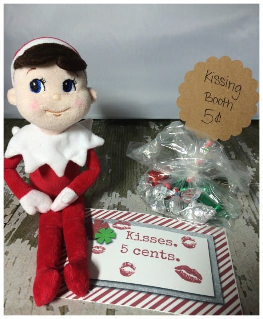 10 Elf On The Shelf Ideas and FREE daily Printable-Holiday Kisses