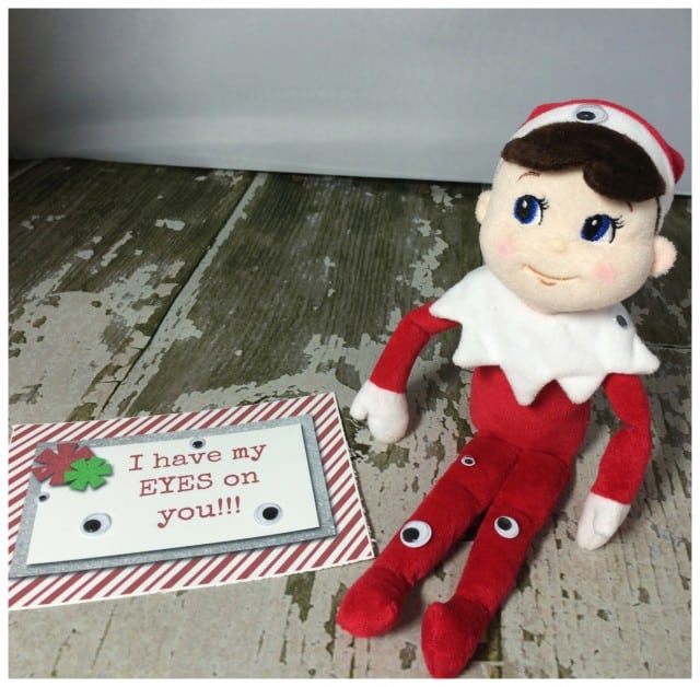 10 Elf On The Shelf Ideas and FREE daily Printable-Eyes on You