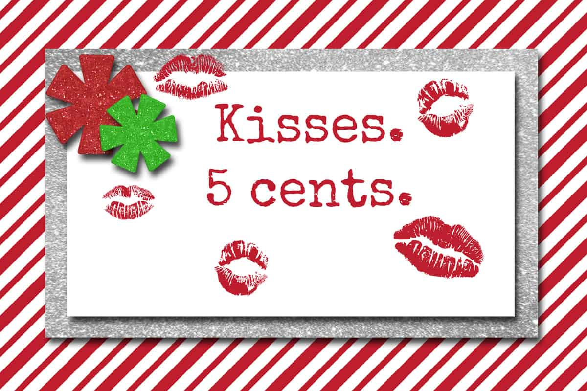 Elf kisses free tags new calendar template site