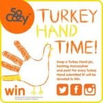 Turkey Hand Time for a great cause! #SoCozyHair