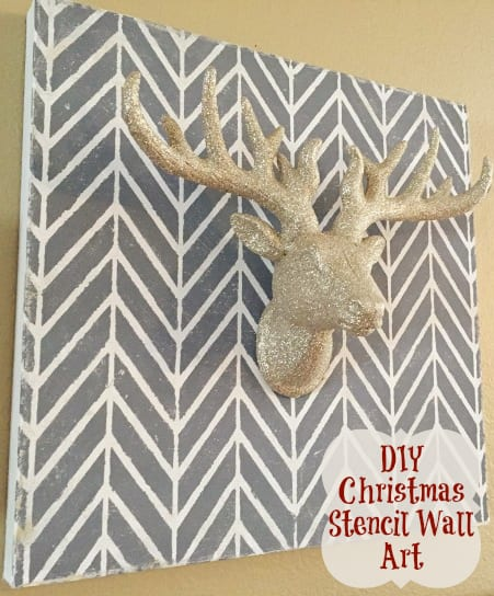Diy get ziggy with it christmas stencil wall art a