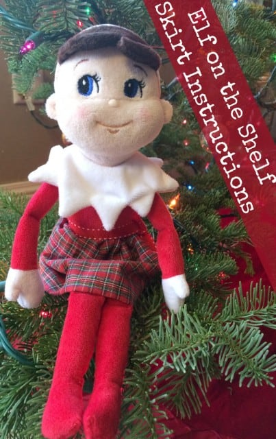 Elf on the Shelf Skirt Instructions and Printable