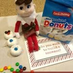 Elf on the Shelf Snowman Idea and Free Printable