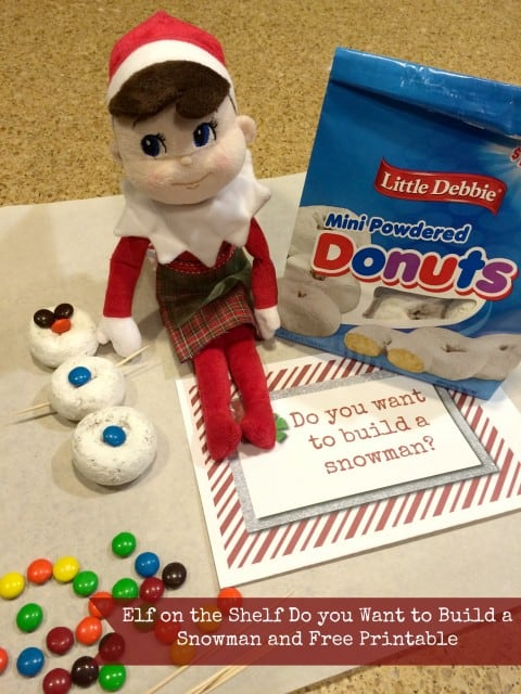Do you want to build a snowman Elf on the Shelf Idea and Free Printable