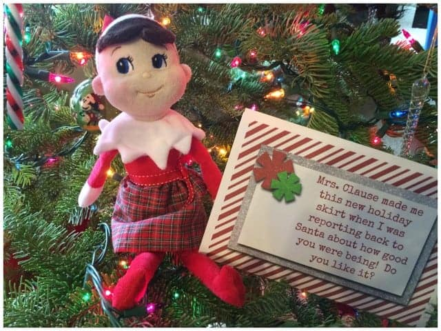 Elf on the Shelf Skirt Instructions and Printable