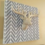 DIY Get Ziggy With It Christmas Stencil Wall Art