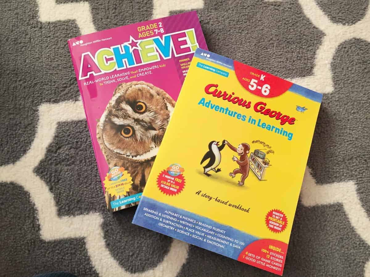 Achieve! and Curious George - Adventures in Learning Workbooks ...