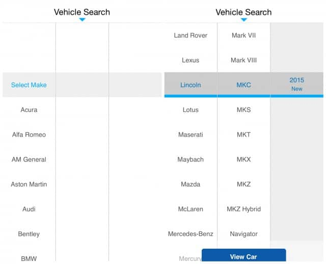 VehicleSearchExact