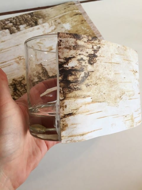 Birch Vases Made with Scrapbook Paper
