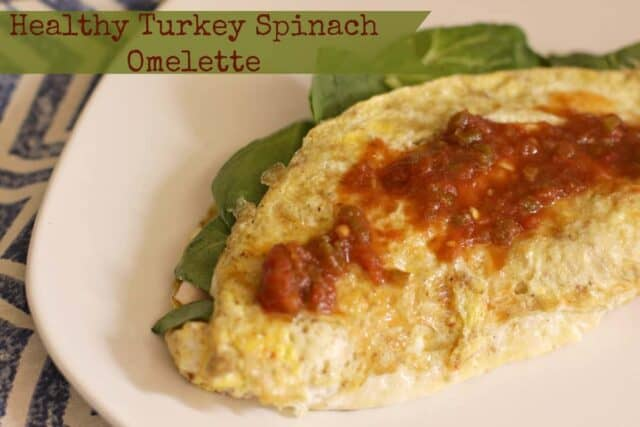 Healthy Turkey Spinach Omelette