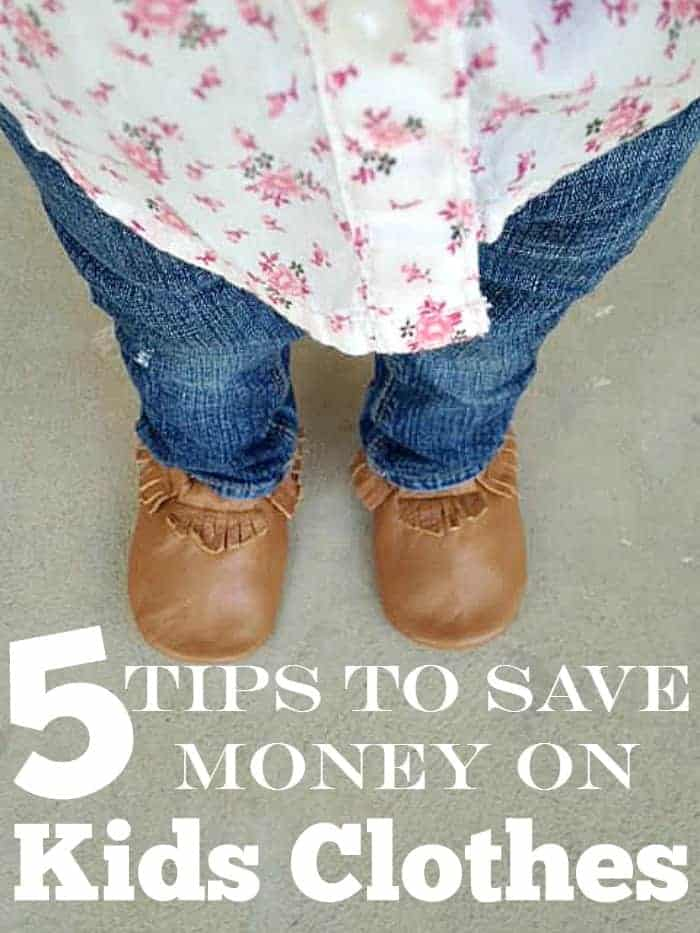 5 Tips to Saving Money on Kids Clothes